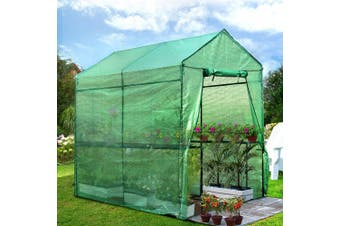 Walk In Greenhouse Garden Green House 1.9 x 1.2m PE Cover Outdoor Plant Storage