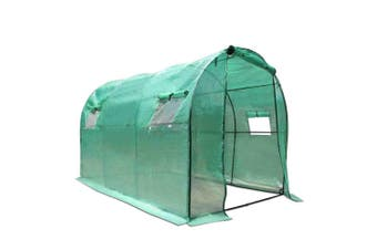 Greenhouse Tunnel Walk In Green House 3 x 2 x 2m PE Cover Steel Frame Gardening