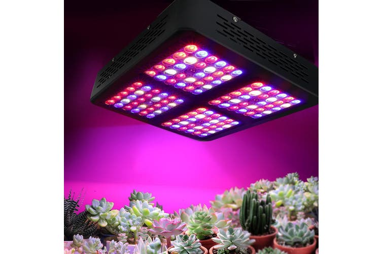 LED Grow Lights 600 W Full Spectrum Reflector 120 LEDs for Hydroponic Plant Grow