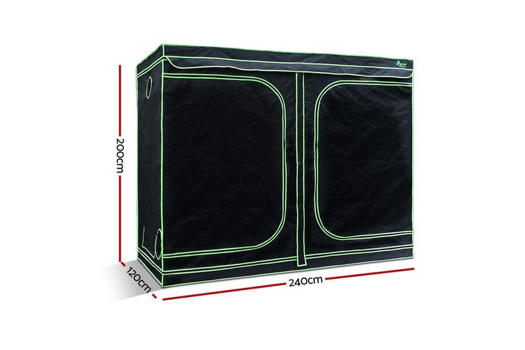Grow Tent Kit Hydroponic Plant Growth Indoor System 1680D 2.4MX1.2MX2M Spacious