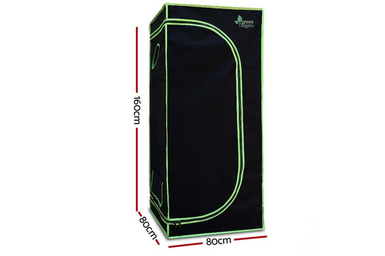 Grow Tent Hydroponic Plants Vegetable Growth System Easy Setup 80x80x160cm 600D