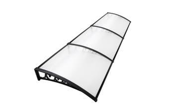 Awning Cover 1 x 3 m Window Door Patio Balcony UV Rain Protection - Transparent