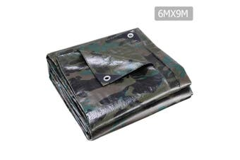 Ground Tarp 6x9m Heavy Duty Camping Poly Tarp for Tent or Vehicle Cover
