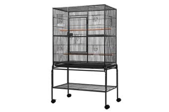 Bird Cage Pet Parrots Aviary 137cm H Large Cage w/ Travel Stand, Castor Wheels