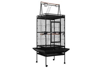 Bird Cage Large Aviary 173cm Height with Perch, Castor Wheels