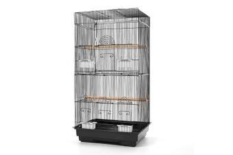 Bird Cage with Perches Medium Size 47(L) x 36(W) x 88(H)cm - Black