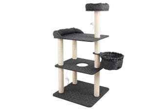 Cat Scratching Post 132cm Tree House Tower for Cat / Kitten Playing, Sleeping