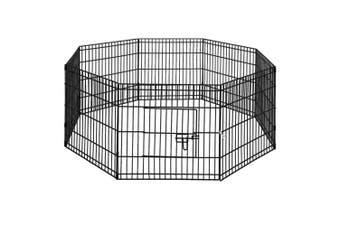 "Dog Animal Playpen Enclosure 24"" Panel 62cm x 60cm Puppy Play Fence 8 Panels"