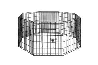 "Dog Animal Playpen 30"" Enclosure Puppy Play Fence 61cm x 76cm 8 Panels"