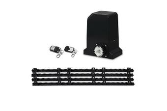 Automatic Sliding Gate Opener Kit Electric 370W 1000 kg with 4M Rails, Remote