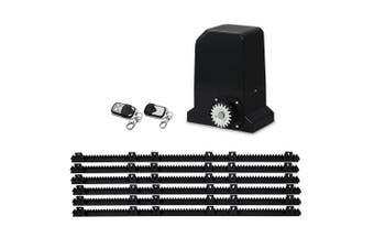 Automatic Sliding Gate Opener Kit Electric 370W 1000kg 6M Rails, Remote Control