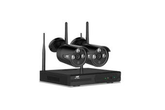 Wireless Security Camera System Home Wifi Outdoor Indoor NVR 1080P 4CH 2 Cameras