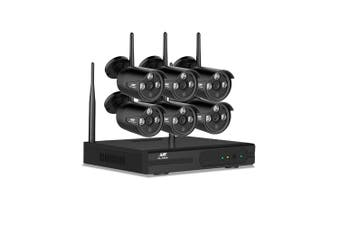 Wireless Security Camera System Home Wifi Outdoor Indoor NVR 1080P 8CH 6 Cameras