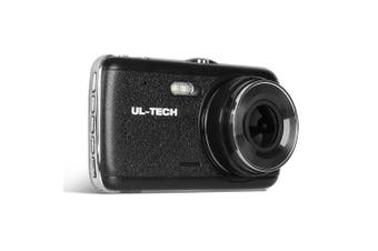 "Dash Cam Front Rear Dual Camera 4"" 1296P HD Recorder Bonus 32GB SD Card"