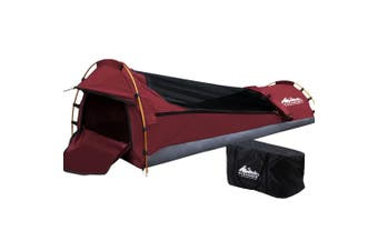 Swag Camping Tent Heavy Duty Canvas Outdoor Biker Swag with Mattress