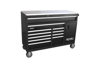 SP Tool Box SP40095 Roller Cabinet 12 Drawer Power Board Stainless Steel WorkTop