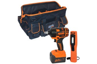 "SP Brushless Impact Wrench 18V 1/2"" Dr Tool kit w/ Batteries Charger & Carry Bag"