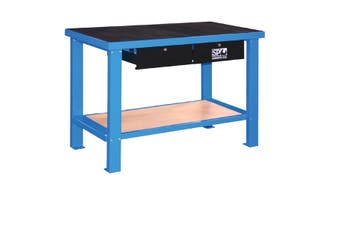 Work Bench Workbench 2 Drawer Lockable 1250mm SP40410 Heavy Duty Workshop Bench