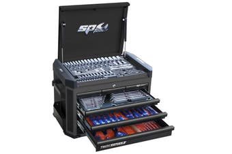 SP Tool Box 212 pcs Tools Kit 7 Drawer Cabinet Diamond Black SP50033D Tool Set