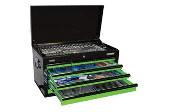 SP Tool Box 7 Drawer 406 piece Tool Kit SP50172 Black Green Sumo Custom Toolbox