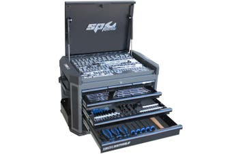 SP Tool Box 251pc Tools Kit 7 Drawer Cabinet SP52255D Diamond Black Tool Set