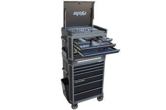 SP Tool Box 269 pc Tools Kit 14 Drawer Roller Cabinet SP52535D Diamond Black