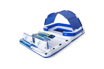 Bestway Inflatable Island Raft - Tropical Breeze - with Removable Drink Cooler & Sunshade - 43105