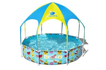 Bestway 2.44m x 0.51m Splash-in-Shade Play Pool with Canopy and Sprayer - 56543