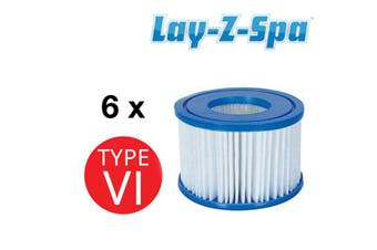 6x Bestway Lay-Z-Spa Spa Cartridge Filter Element Type VI - 58323