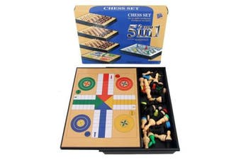 5 in1 Magnetic Travel Game Chess Set