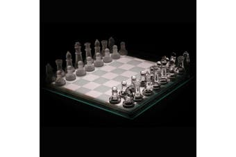 Glass Chess Set Board Games Home And Office Decor