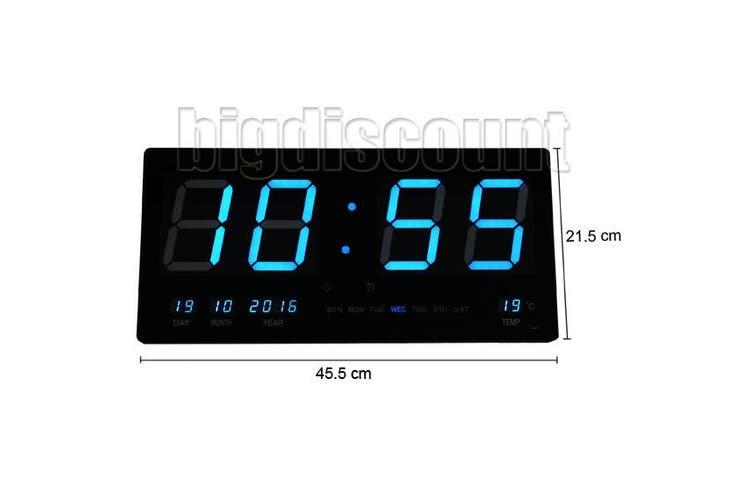 LED Digital Clock Large -Blue