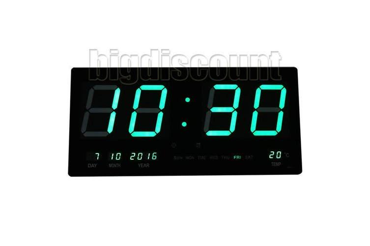 LED Digital Clock Large - Green