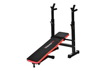 FitnessPro Multi Station Weight Bench Press Equipment Incline With Pull Up Bars