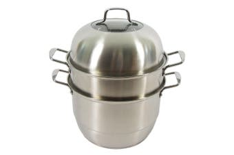 Stainless Steel Steamer Pot 2 Layers - 28cm