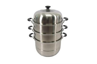 Stainless Steel Steamer Pot 4 Layers - 32cm