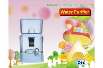 24L Water Filter Bottle Bench Top Dispenser Purifier 8 Stage Ceramic Carbon