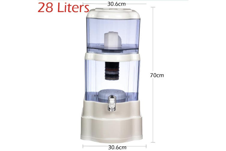 28L Water Filter Bottle Bench Top Dispenser Purifier 8 Stage Ceramic Carbon
