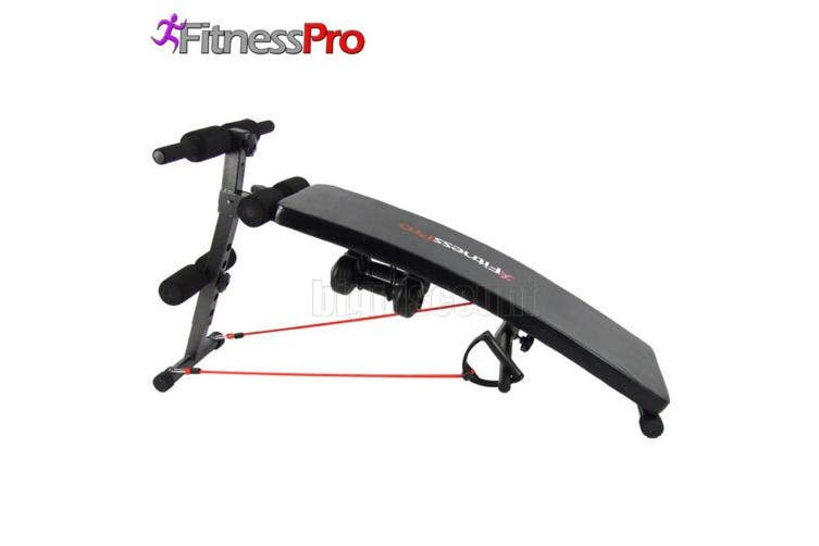 FitnessPro Sit Up Bench Free Dumbbells Included