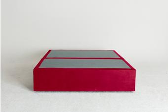 Velvet Maxwell's 4 Drawer Bed Base - Scarlet - Double