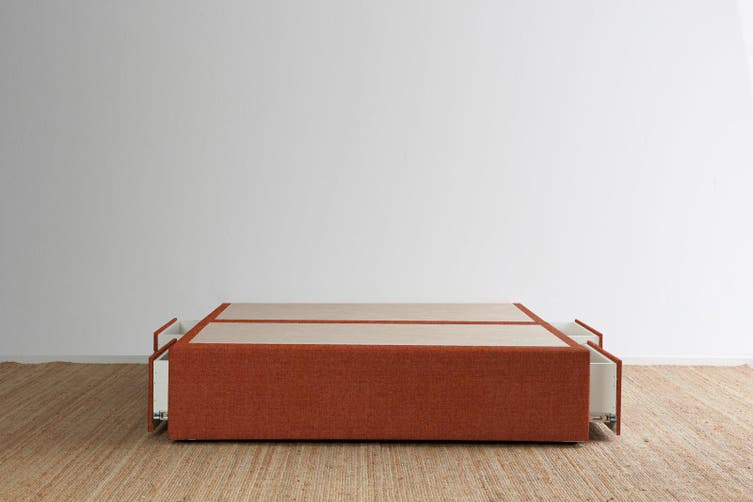 Maxwell's 4 Drawer Bed Base - Terracotta - Super King