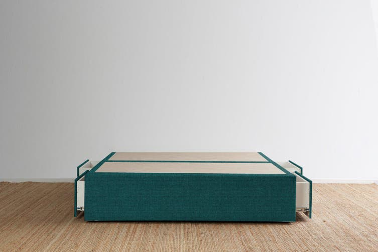 Maxwell's 4 Drawer Bed Base - Teal - Super King