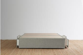 Maxwell's 4 Drawer Bed Base - Pewter - King