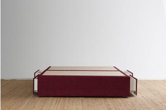 Maxwell's 4 Drawer Bed Base - Beetroot - King