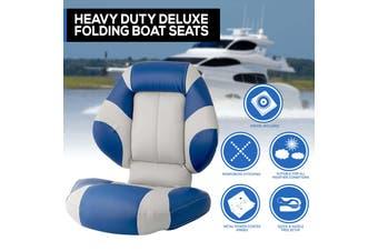 New Latest Model Boat Seat Deluxe Boat Folding w/ Swivels All Weather