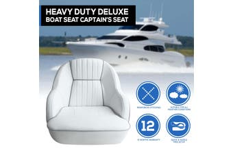 Premium Bucket Boat Seat Marine All Weather White Captain Seat White