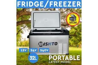 32L Portable Fridge Freezer 12V/24V/240V Camping Car Boating Caravan Bar Fridge