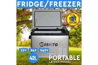 42L Portable Fridge Freezer 12V/24V/240V Camping Car Boating Caravan Bar Fridge