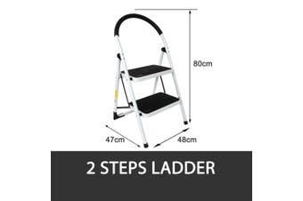 2 STEP LADDER MULTI PURPOSE FOR HOUSEHOLD OFFICE FOLDABLE NON SLIP