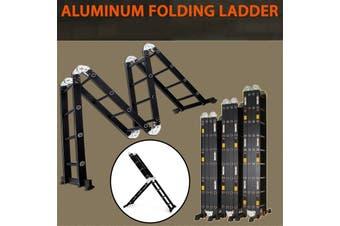 6.9M Multi Purpose Aluminium Folding Extension Ladder Step Scaffold
